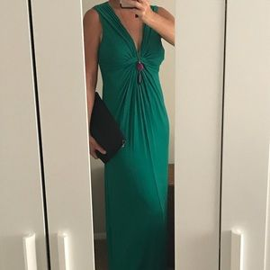 Max Studio Maxi Dress jade green size large